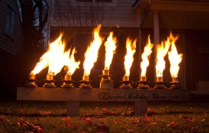 Fancy Fire Pit | extreme menorah |