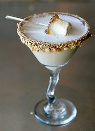 marshmellow martini | fancy fire pit